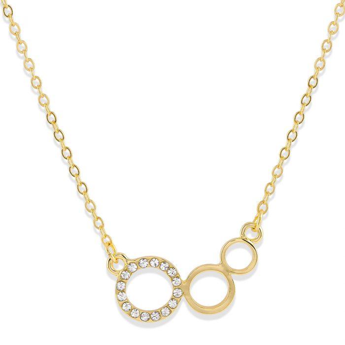 Halsband med cirklar Guld Montini