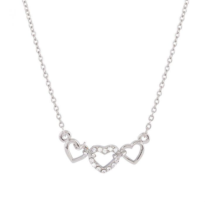 Halsband med hjärta Silver Montini