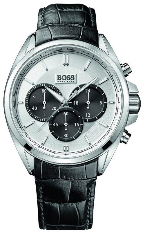 Hugo Boss Sport Herrklocka 1512880 Silverfärgad/Läder Ø46 mm