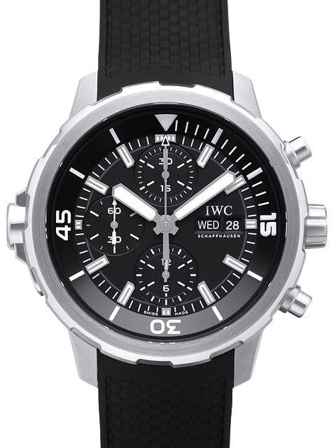 IWC Aquatimer Chronograph Herrklocka IW376803 Svart/Gummi Ø44 mm