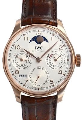 IWC Portuguese Herrklocka IW503302 Silverfärgad/Läder Ø44.2 mm