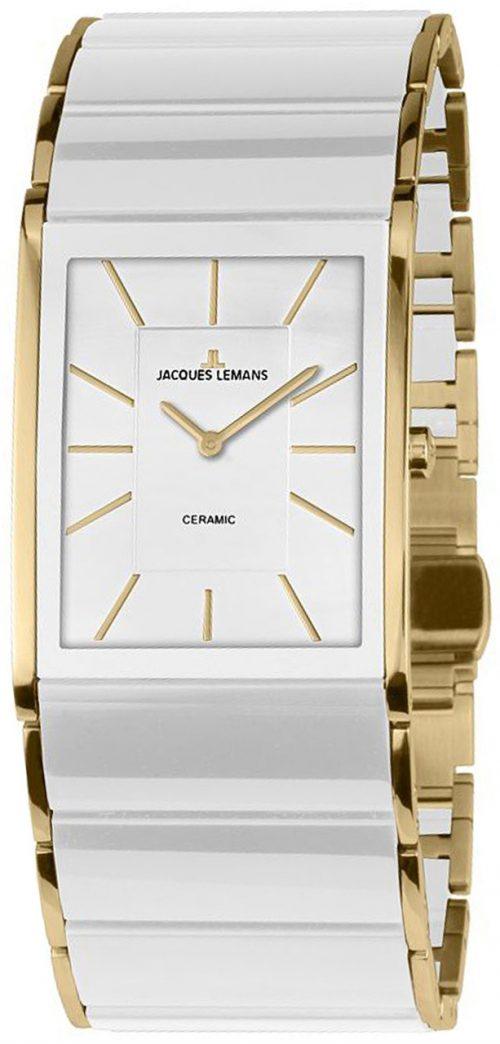 Jacques Lemans Dublin Damklocka 1-1940E Vit/Gulguldtonat stål