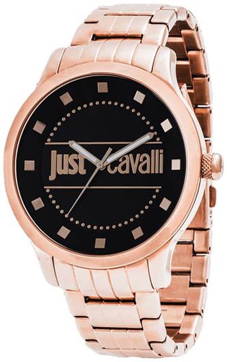 Just Cavalli Huge Damklocka R7253127524 Svart/Roséguldstonat stål