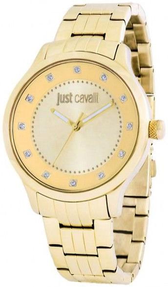 Just Cavalli Huge Damklocka R7253127530 Champagnefärgad/Gulguldtonat