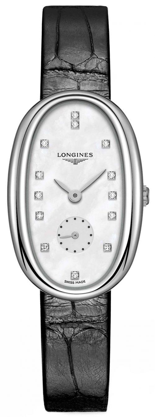 Longines Symphonette Damklocka L2.307.4.87.0 Silverfärgad/Läder