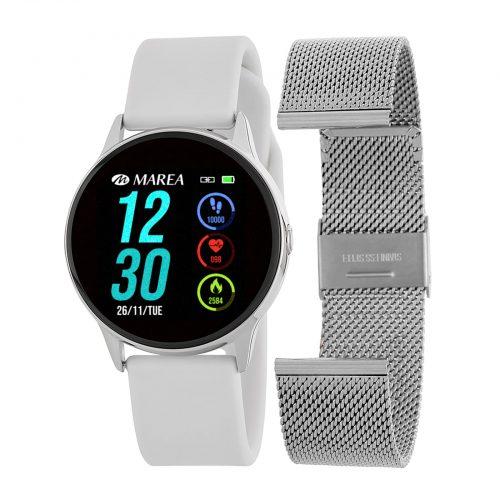 Marea Smart Watch B58001/3 -Vit och Silver