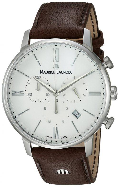 Maurice Lacroix Eliros Herrklocka EL1098-SS001-112-1 Vit/Läder Ø40