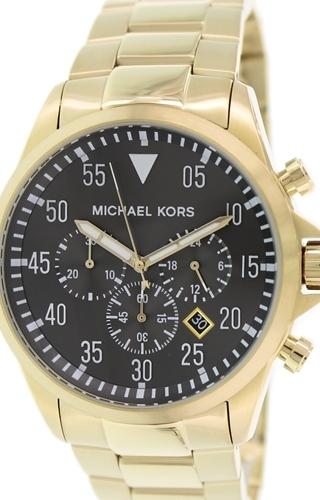 Michael Kors Gage Herrklocka MK8361 Svart/Gulguldtonat stål Ø45 mm