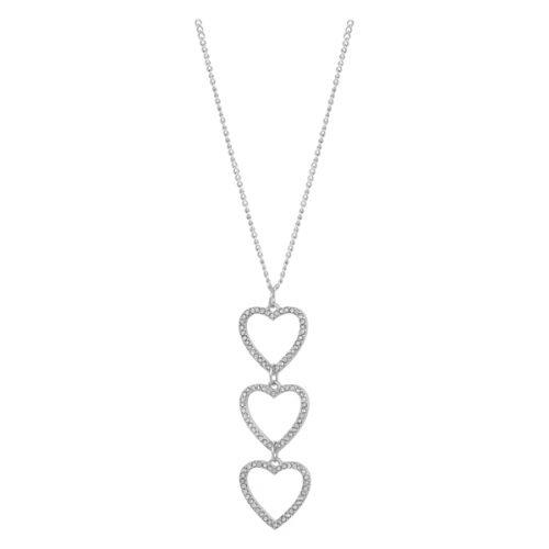 Montini Halsband Tre Hjärtan Silver