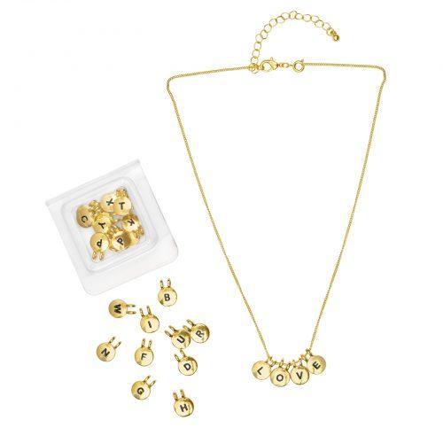 Montini Halsband med bokstäver Guld
