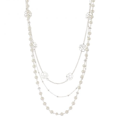 Montini Halsband -pärlor och rosor