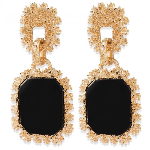 Montini Trend Örhängen Guld med svart sten