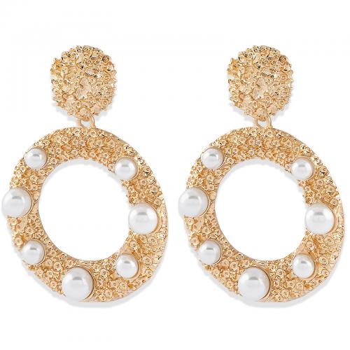 Montini Trend Örhängen guld med vita pärlor