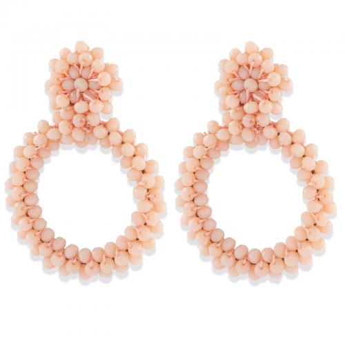 Montini Trend Örhängen med rosa pärlor