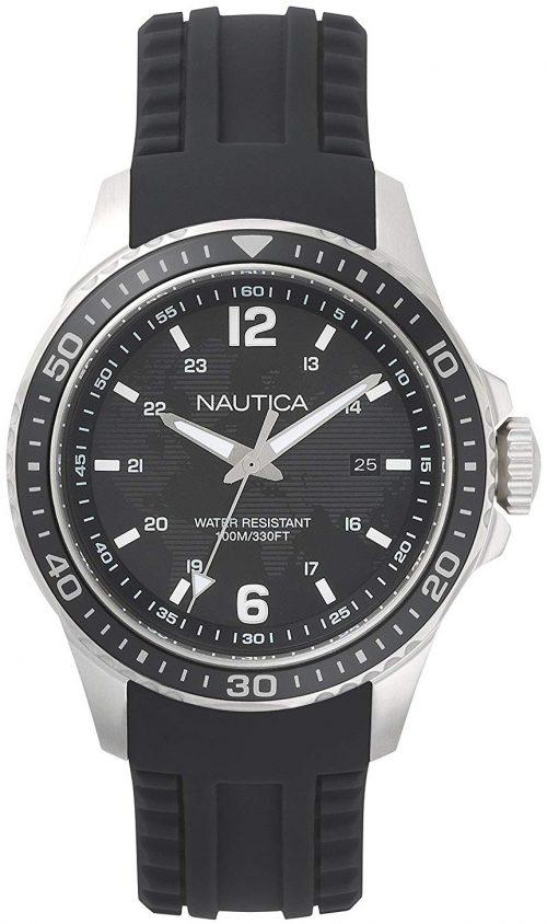 Nautica Freeboard Herrklocka NAPFRB001 Svart/Gummi Ø44 mm