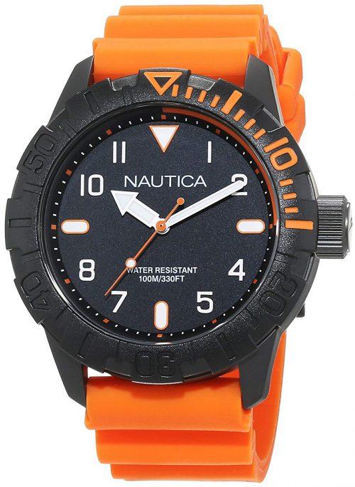 Nautica Nsr Herrklocka NAD10082G Svart/Gummi Ø46 mm