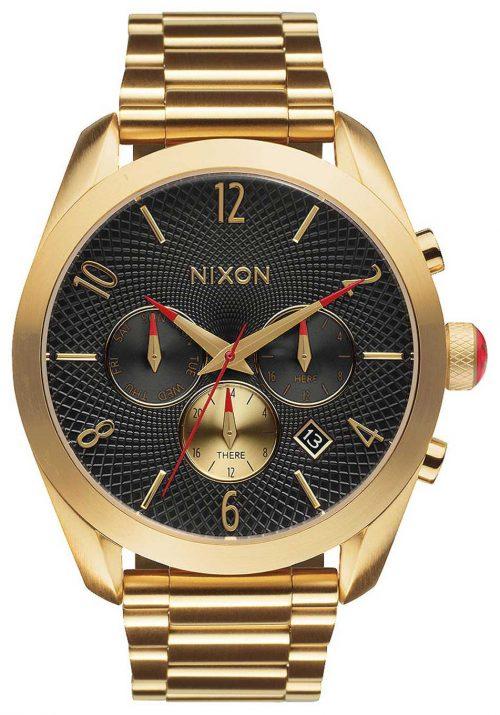 Nixon 99999 A366510-00 Svart/Gulguldtonat stål Ø42 mm