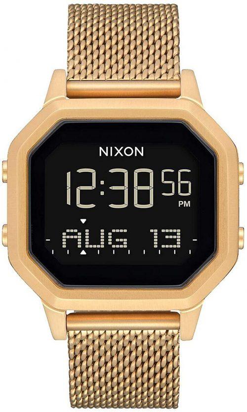 Nixon 99999 Damklocka A1272502-00 LCD/Gulguldtonat stål