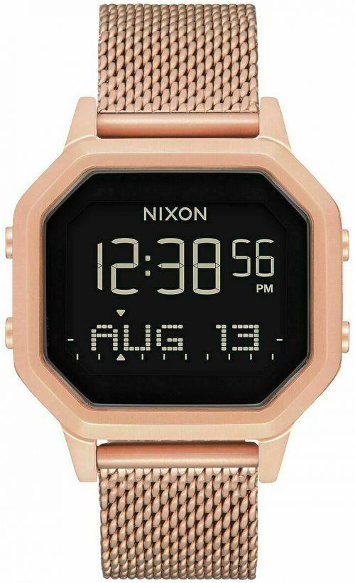 Nixon 99999 Damklocka A1272897-00 LCD/Roséguldstonat stål