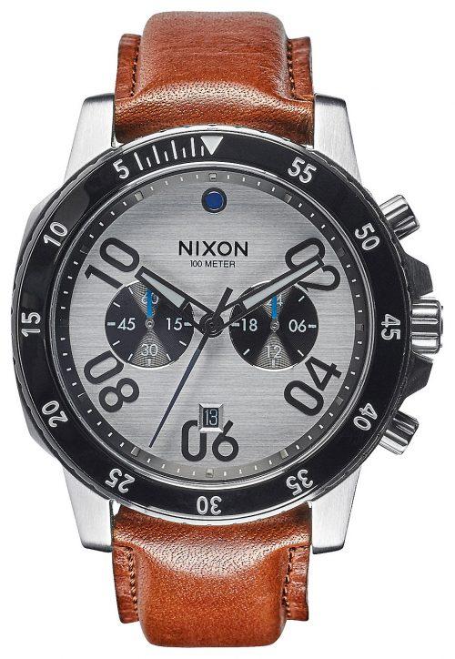 Nixon 99999 Herrklocka A9402092-00 Flerfärgad/Läder Ø44 mm