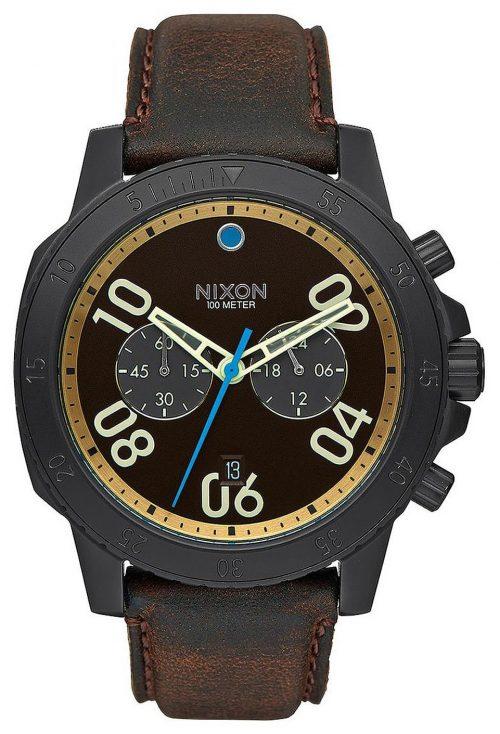 Nixon 99999 Herrklocka A9402209-00 Brun/Läder Ø44 mm