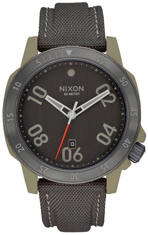 Nixon 99999 Herrklocka A9422220-00 Grå/Textil Ø44 mm