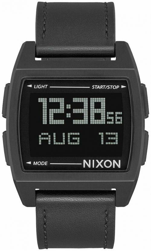 Nixon Base Herrklocka A1181001-00 LCD/Läder