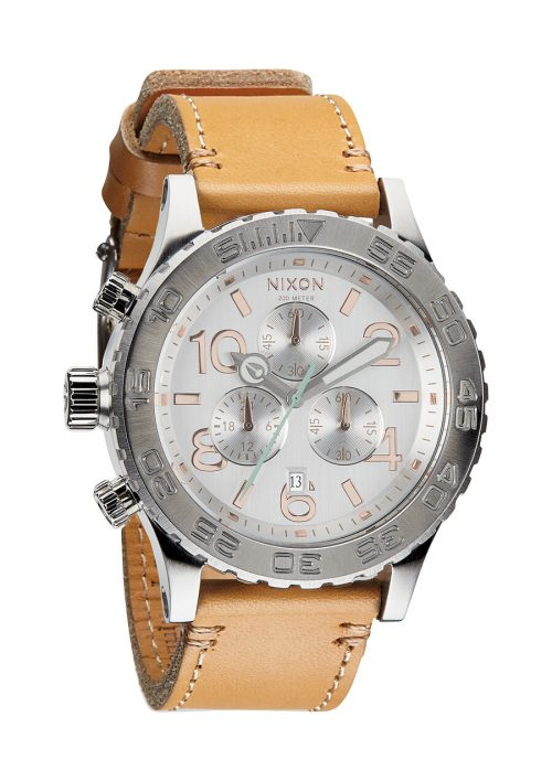 Nixon The 42-20 Chrono Leather Herrklocka A4241603-00