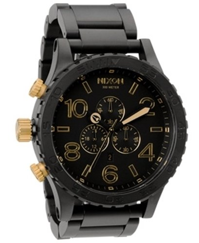 Nixon The 51-30 Chrono Herrklocka A0831041-00 Svart/Stål Ø51 mm