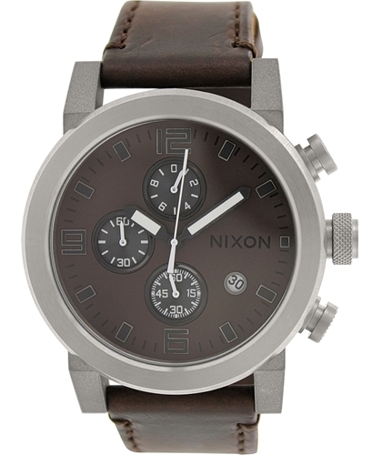Nixon The Ride Herrklocka A315562-00 Brun/Läder Ø49 mm