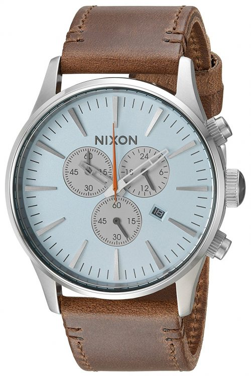 Nixon The Sentry Herrklocka A4052547-00 Blå/Läder Ø42 mm