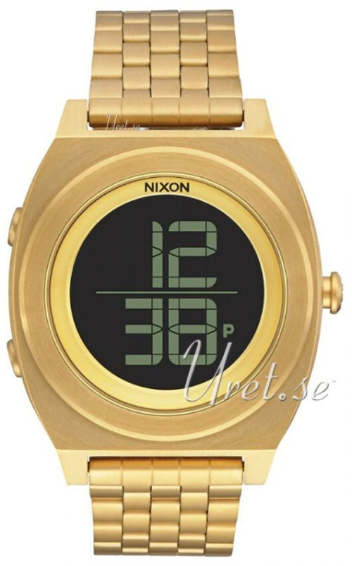 Nixon The Time Teller A948502-00 LCD/Gulguldtonat stål Ø40 mm