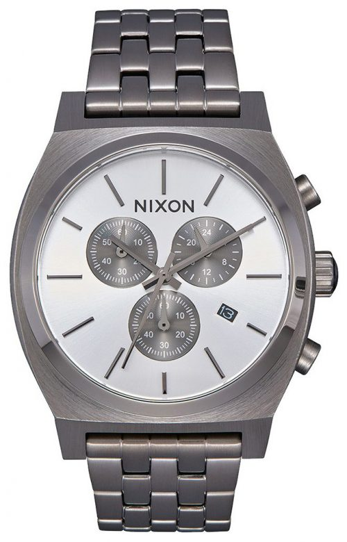 Nixon The Time Teller Herrklocka A972632-00 Vit/Stål Ø39 mm
