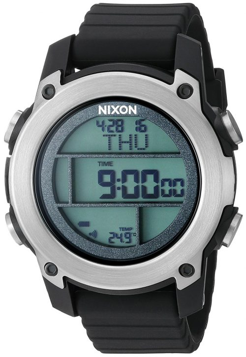Nixon The Unit Herrklocka A962000-00 LCD/Gummi Ø46 mm