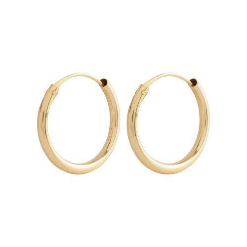 Örhängen 18k guld - Creoler 10 mm