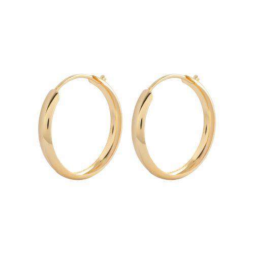 Örhängen 18k guld - Creoler 12 mm