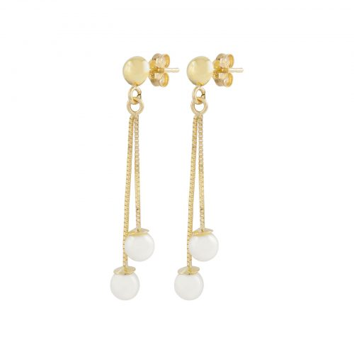 Örhängen 18k guld - Hängande pärlor