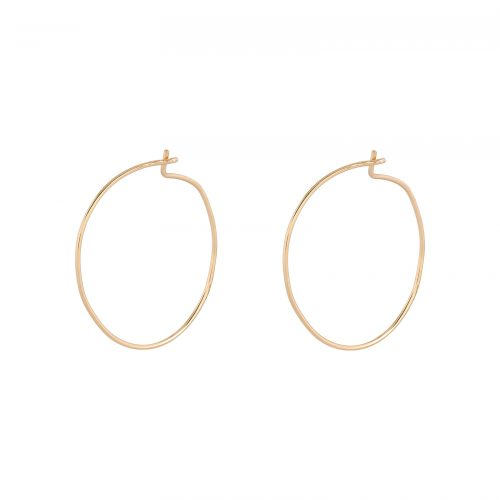 Örhängen 18k guld - Läkringar 12 mm