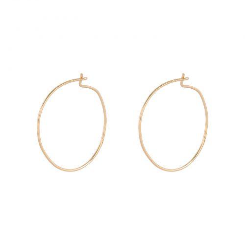 Örhängen 18k guld - Läkringar 15 mm