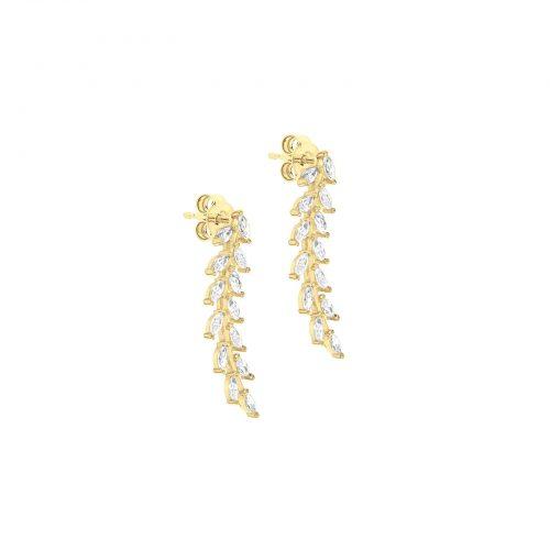 Örhängen 9K Guld - Blad