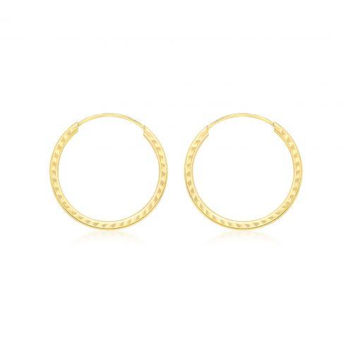 Örhängen 9K Guld - Creoler 18 mm