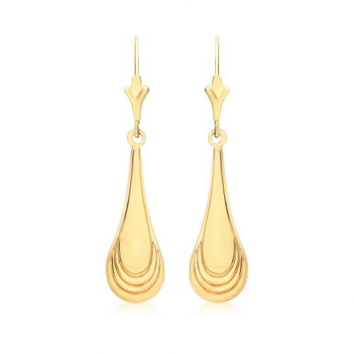 Örhängen 9K Guld - Hängande droppar