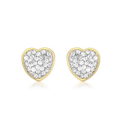 Örhängen 9K Guld - Hjärtan
