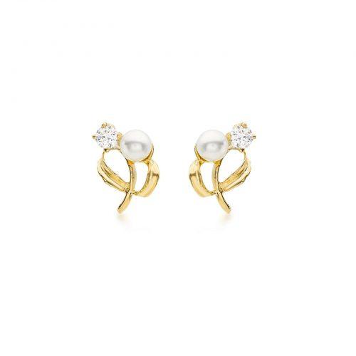Örhängen 9K Guld - Pärlor