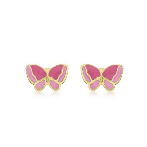 Örhängen för barn 9K Guld - Fjäril