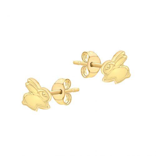 Örhängen för barn 9K Guld - Kanin