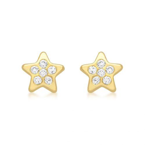 Örhängen för barn 9K Guld - Stjärnor