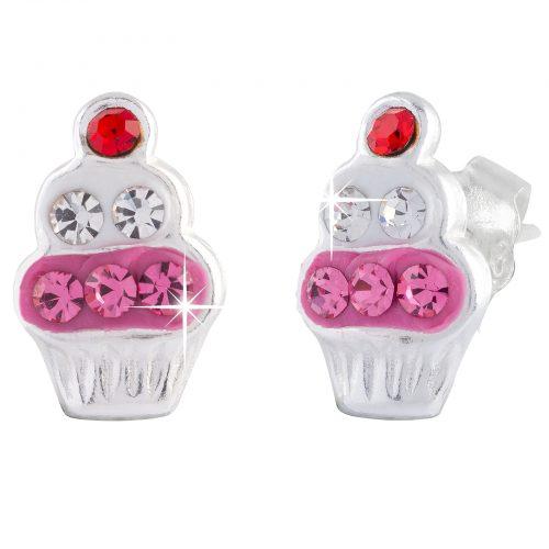 Örhängen för barn i Sterling Silver -Cupcakes