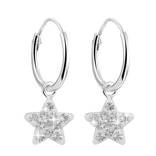 Örhängen för barn i Sterling Silver -Stjärna