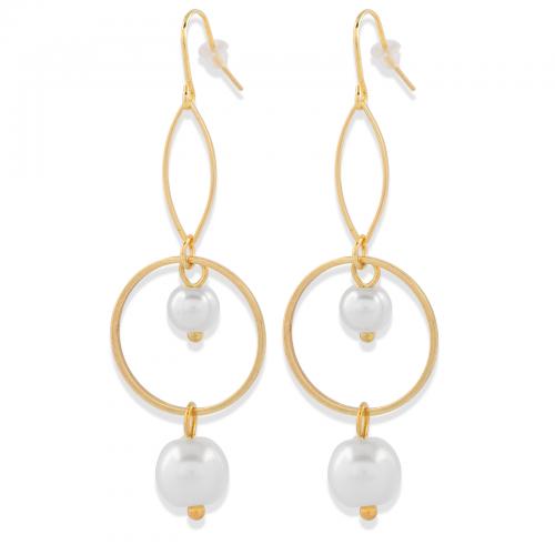 Örhängen guld med pärlor Montini